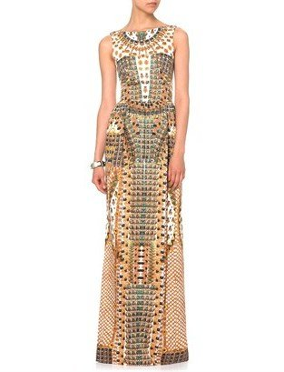 Temperley London Gold Jasper Print Maxi Dress