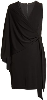 Halston Harley One-Sleeve Matte Jersey Dress