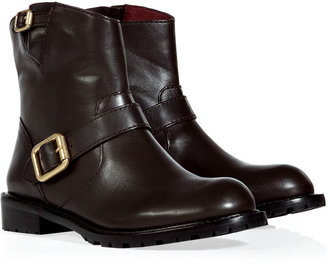 Marc by Marc Jacobs Espresso Flat Leather Ankle Boots