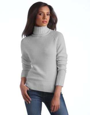 Lord & Taylor Cashmere Chunky Turtleneck Sweater