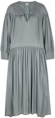 Totême Alassio Grey Cotton-blend Midi Dress