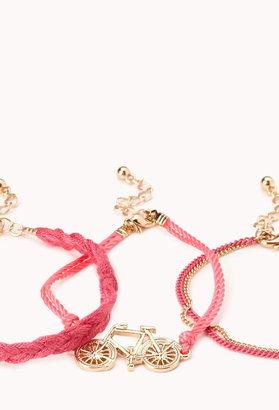 Forever 21 Neon Pop Bicycle Bracelet Set