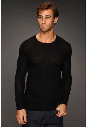 John Varvatos Collection - Seamed Cashmere Sweater (Black) - Apparel