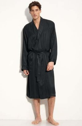 Majestic International Herringbone Stripe Silk Robe