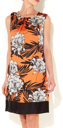 Wallis Orange Floral Shift Dress