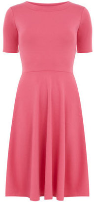 Dorothy Perkins Cerise round neck flare dress