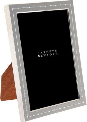 "Barneys New York 4"" x 6"" Silver Dot Frame"