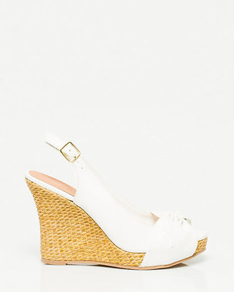 Le Château Faux Leather Slingback Wedge