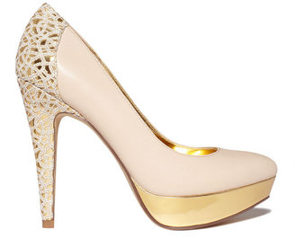 Unlisted Shoes, Block List Platform Pumps