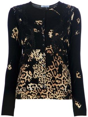 Blumarine leopard detailing twinset
