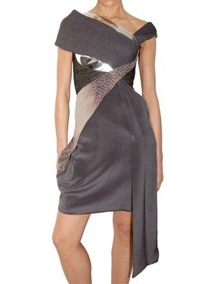 Peter Pilotto Shawl Multi Fabric Dress