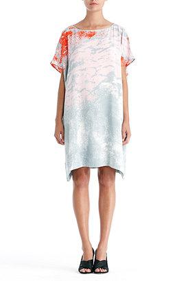 Diane von Furstenberg Diane Hanky Drape Dress In Dream Clouds Pink