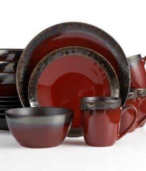 Mikasa Calder Red 16-Pc. Set, Service for 4