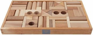 story. Wooden Natural Wooden Blocks, 54 Pieces