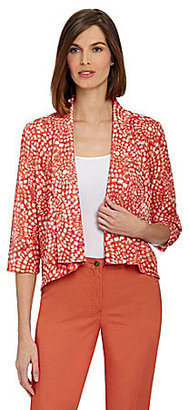 Ruby Rd. Mosaic Ring Print Cardigan