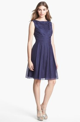 Ivy & Blu Pleat Fit & Flare Dress (Online Only)