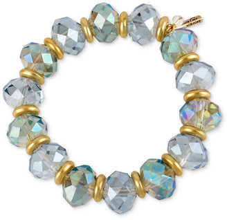 Kenneth Cole New York Bracelet, Gold-Tone Faceted Bead Stretch Bracelet