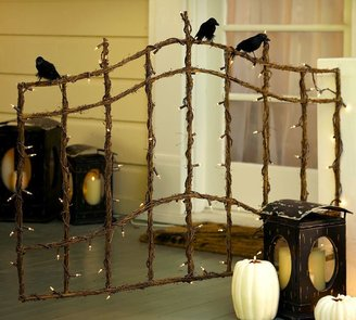 Pottery Barn Lit Twig Gate