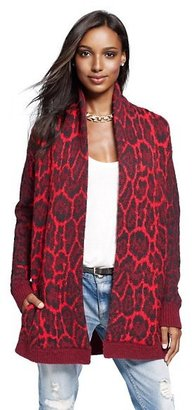 Juicy Couture Jacquard Animal Print Cardigan