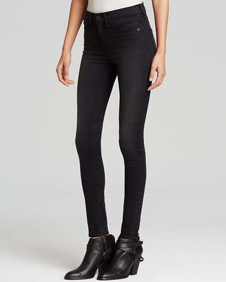 rag & bone/JEAN Leggings - The High Rise in Washed Black $198 thestylecure.com
