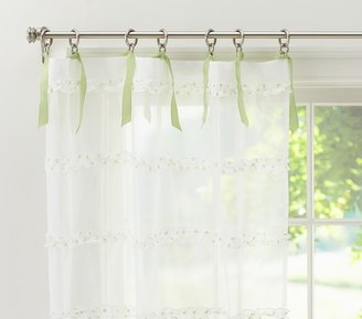 Pottery Barn Kids Dot Ruffle Sheer