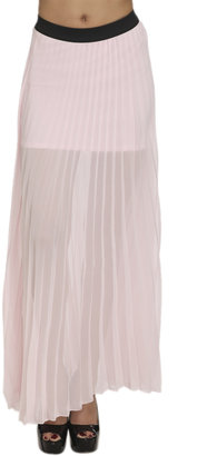 Arden B Full Pleated Maxi Skirt