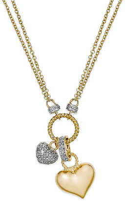 Victoria Townsend Diamond Heart Pendant Necklace in 18k Gold over Sterling Silver (1/4 ct. t.w.)