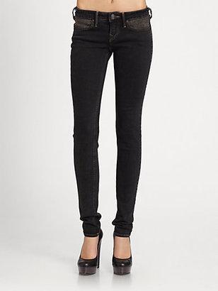 True Religion Shannon Embellished Skinny Jeans
