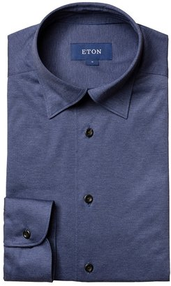 Eton Navy Jersey Shirt - Slim Fit