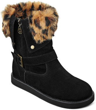 G by Guess Women's Amaze Faux-Fur Cold Weather Booties