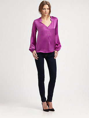 Elizabeth and James Mirta Hammered Silk Blouse