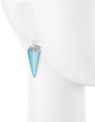 Alexis Bittar Ice Baguette Arrow Drop Earrings, Blue