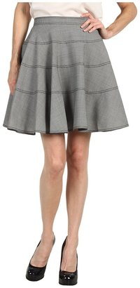 Z Spoke Zac Posen Houndstooth Skirt (965 Black/White) - Apparel