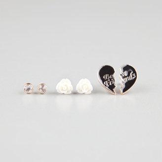 Full Tilt Rhinestone Post/Flower/Best Friend Stud Earrings