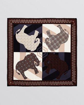 Jonathan Adler Spinning Elephants Silk Square Scarf