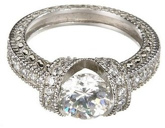 Crystal Sterling Silver Estate Ring