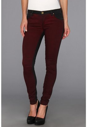 Blank NYC The Two Tone Skinny Classique in Black/Wine Red