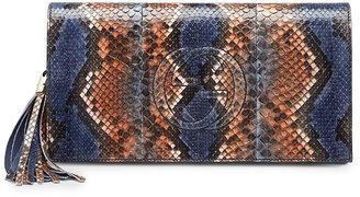 Gucci Soho Python Clutch Bag, Uniform Blue