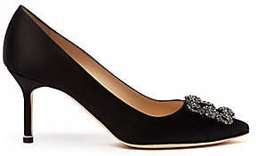 Manolo Blahnik Women's Hangisi 105 Embellished Satin Pumps