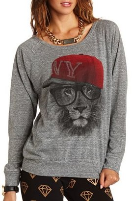 Charlotte Russe NY Lion Graphic Top