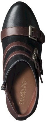 Boots Women's Sam & Libby Kaye Buckle Black/Saddle Tan