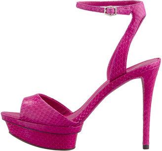 Brian Atwood Femme Fatale Snakeskin Platform Sandal