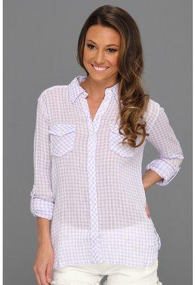 C&C California Gingham 2-Pocket Roll Sleeve Shirt (Lavender) - Apparel