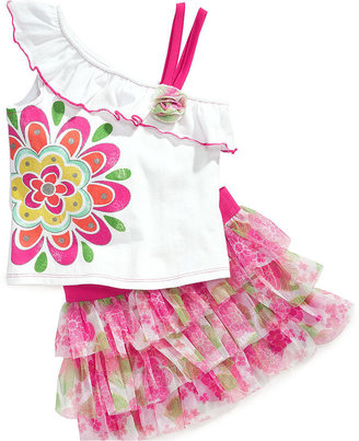 Nannette Baby Set, Baby Girls 2-Piece Tank Top and Scooter Skirt