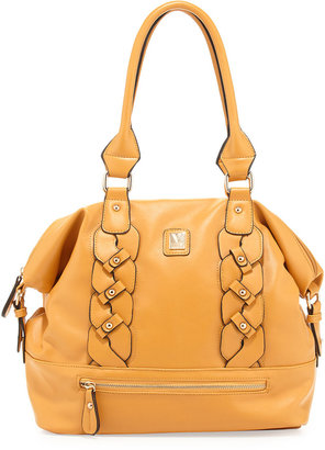 Kooba V Couture by Bianca Braided Dome Satchel Bag, Mustard