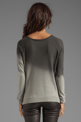 My Line Penny Dolman Ombre Print Off the Shoulder Pullover