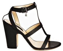 Blink Block Heeled Strappy Sandals - Black