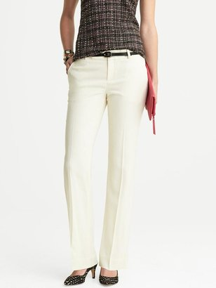 Banana Republic Martin-Fit White Flannel Trouser