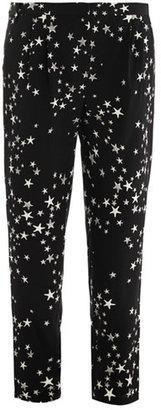 Tibi Star-print silk trousers