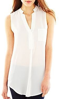 JCPenney Sleeveless Bow Blouse